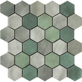 Mozaika Cir Materia Prima mix green hexagon 27x27 cm lesk 10699201