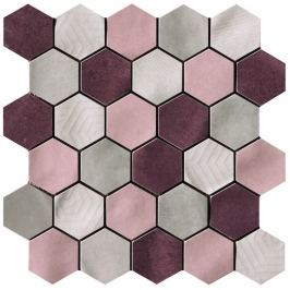 Mozaika Cir Materia Prima mix pink hexagon 27x27 cm lesk 10699221