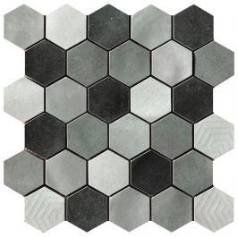 Mozaika Cir Materia Prima mix grey hexagon 27x27 cm lesk 10699211