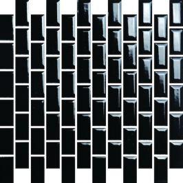 Keramická mozaika Premium Mosaic čierna 30x30 cm lesk MOS2348BK