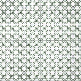 Dlažba Tonalite Aquarel verde Mizar 15x15 cm mat AQUMIZVE