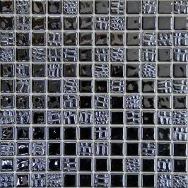 Sklenená mozaika Mosavit Pelle grafito 30x30 cm lesk PELLEGF50