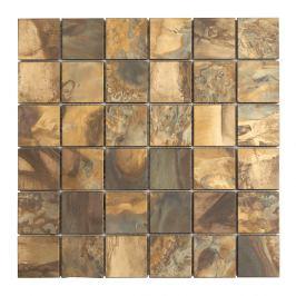 Medená mozaika Premium Mosaic metalická hnědá 30x30 cm mat MOS4848CO