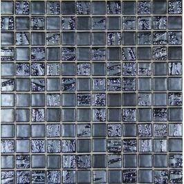 Sklenená mozaika Mosavit Bamboo antracita 30x30 cm mat / lesk BAMBOOAN50