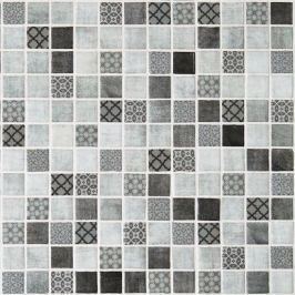 Sklenená mozaika Mosavit Riviere gris 30x30 cm mat DRIVIEREGR