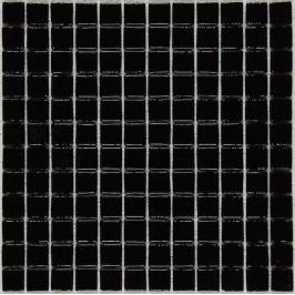 Sklenená mozaika Mosavit Monocolores negro 30x30 cm lesk MC901