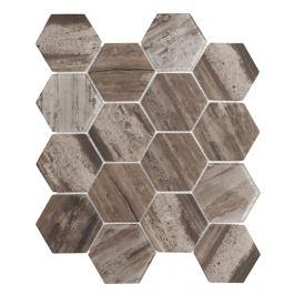 Sklenená mozaika Premium Mosaic hnědá 26x30 cm mat / lesk MOSV84DARK3D