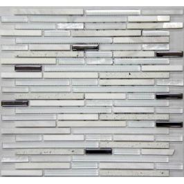 Kamenná mozaika Mosavit Lluvia blanco 30x30 cm mat / lesk LLUVIABL