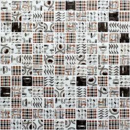 Sklenená mozaika Mosavit coffe time mix 30x30 cm mat COFFEETIMEMIX