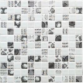 Sklenená mozaika Mosavit Graphics 30x30 cm mat KITCHEN