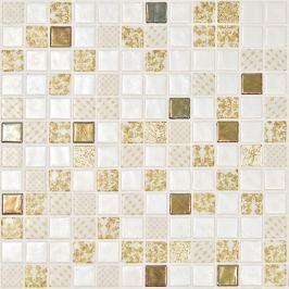 Sklenená mozaika Mosavit Palace oro 30x30 cm lesk PALACEORO