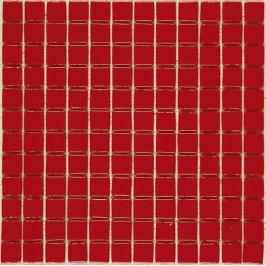 Sklenená mozaika Mosavit Monocolores rojo 30x30 cm lesk MC902