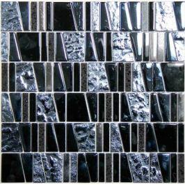 Kamenná mozaika Mosavit Asi negro 30x30 cm lesk ASINEGRO