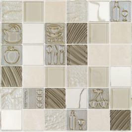 Sklenená mozaika Mosavit Kitchen beige 30x30 cm mat / lesk KITCHENBE