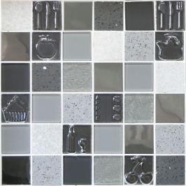 Sklenená mozaika Mosavit Kitchen gris 30x30 cm mat / lesk KITCHENGR