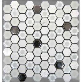 Mozaika Mosavit Hexagono blanco 30x30 cm mat / lesk HEXABL