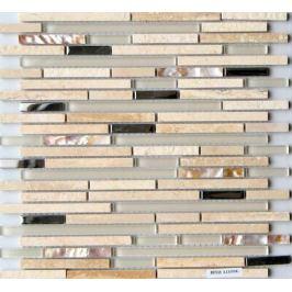 Kamenná mozaika Mosavit Lluvia beige 30x30 cm mat / lesk LLUVIABE