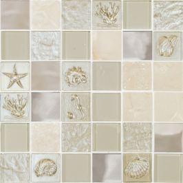 Sklenená mozaika Mosavit Marina beige 30x30 cm mat / lesk MARINABE