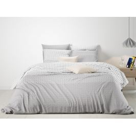 Mistral Home povlečení 100% bavlna Domas šedobéžová - 140x200 / 70x90 cm