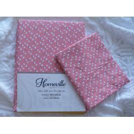 Homeville Homeville povlečení 100% bavlna Albertiina jahodová 140x200cm+70x90cm