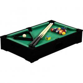 Mini biliard pool s príslušenstvom 51 x 31 x 10 cm - čierny