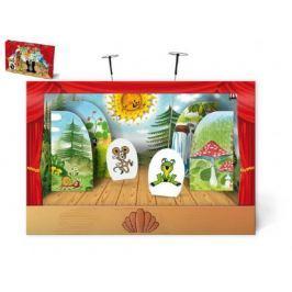 Loutkové Divadlo Krtek papírové 6ks postaviček v krabici 34x23x4cm