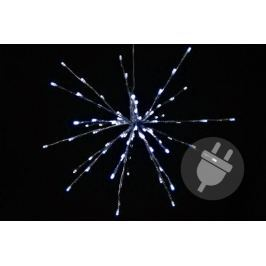 Vianočné osvetlenie - meteorický dážď - studená biela, 80 LED, 40 cm
