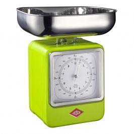 Wesco Kuchynská váha s hodinami svetlozelená