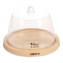 Boska Drevená okrúhla doska na syr s transparentným poklopom Beech