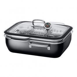 Silit Ecompact® systém na varenie v pare, pečenie a údenie s dvoma parnými vložkami čierny