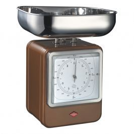Wesco Kuchynská váha s hodinami čokoládovo hnedá