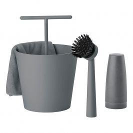ZONE Súprava na umývanie riadu cool grey BUCKET