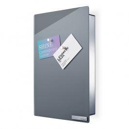 Blomus Skrinka na kľúče s magnetickými dvierkami 30 x 20 cm VELIO sivá
