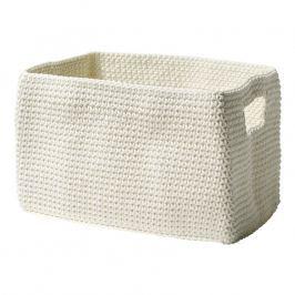 ZONE Úložný košík hranatý white