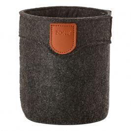 ZONE Úložný košík veľký dark grey CRAFT