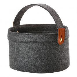 ZONE Úložný košík s uchom veľký dark grey CRAFT
