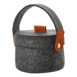 ZONE Úložný košík s uchom malý dark grey CRAFT