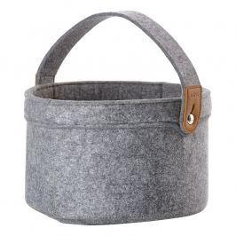 ZONE Úložný košík s uchom veľký grey CRAFT