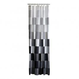 ZONE Sprchový záves so štvorcami 180 × 200 cm black