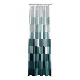 ZONE Sprchový záves so štvorcami 180 × 200 cm green
