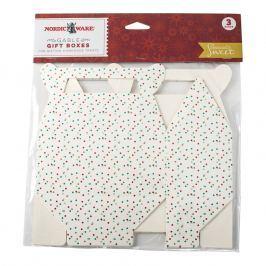 NordicWare Papierové krabičky na cukrovinky Seasonally Sweet Holiday 3 kusy, Nordic Ware
