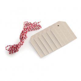 NordicWare Drevené visačky so šnúrkou Wood Tags & Bakers Twine 6 kusov, Nordic Ware