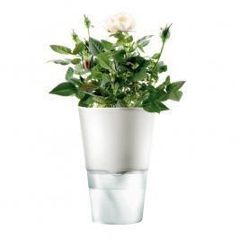 Eva Solo Samozavlažovací kvetináč kriedovo biely Ø 11 cm