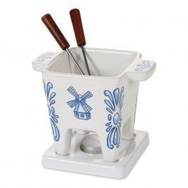 Boska Keramická súprava na fondue a tapas pre 2 osoby Delft Blue