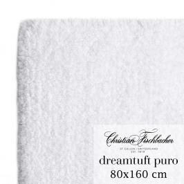 Christian Fischbacher Kúpeľňový koberček 80 x 160 cm biely Dreamtuft Puro, Fischbacher