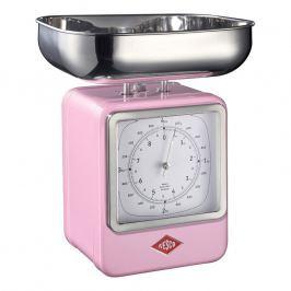 Wesco Kuchynská váha s hodinami ružová