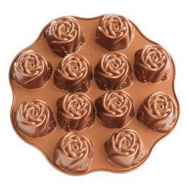 NordicWare Forma na pečenie v tvare ružičiek Sweetheart Rose Bundt® medená, Nordic Ware