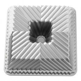 NordicWare Forma na bábovku štvorhranná Bavaria Cube Bundt® strieborná, Nordic Ware