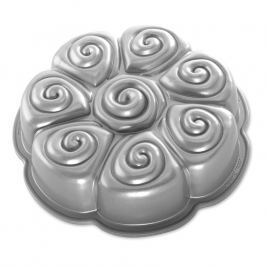 NordicWare Forma na škoricové rolky Cinnamon Pull Apart Bundt® strieborná, Nordic Ware