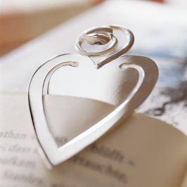 Robbe & Berking Strieborná záložka do knihy srdce